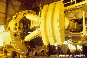 27 ft. Tunnel Boring Machine used on one of the contracts.