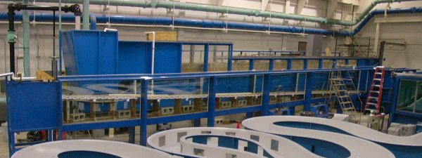 View of density current flume